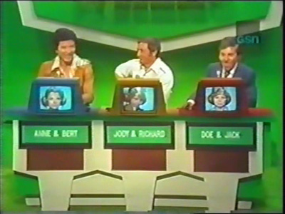 Panelists Convy, Dawson and another popular game show host at the time, Chuck Woolery