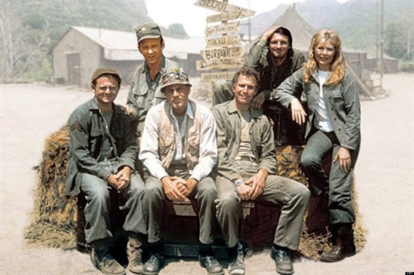 Radar, Frank Burns, Henry Blake, Trapper John, Hawkeye and Margaret