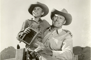The Rifleman and his son, Mark