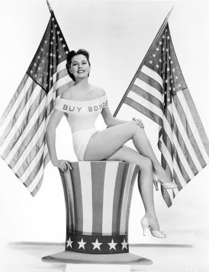 Buy War Bonds from Cyd Charisse