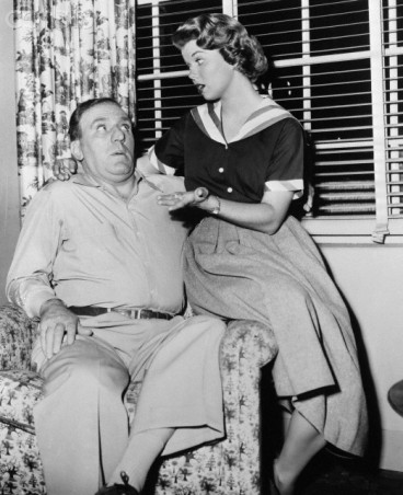Lugene Sanders and William Bendix in Life of Riley Show
