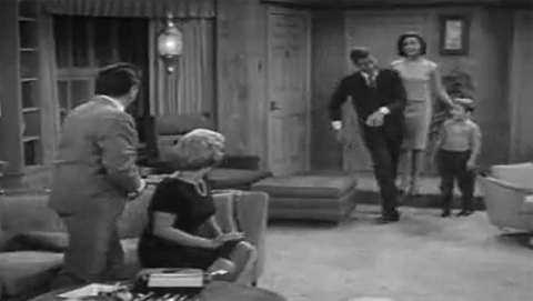 The alternate opening where Rob Petrie does a little side-step to go around the ottoman